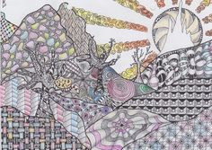 Another zentangle landscape made by Marlou