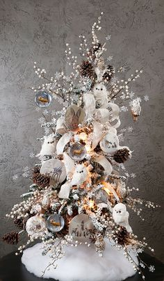 RAZ 2016 Winter Woodlands Tree #2  To see more items from this collection for purchase at Trendy Tree online, just click here. We are still in the process of adding new products that will start arriving Summer 2016. http://www.trendytree.com/raz-christmas-and-halloween-decor/2016-winter-woodlands-1.html