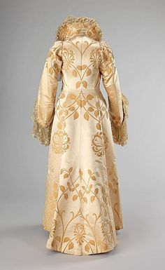 ~Evening coat  House of Worth  (French, 1858–1956)    Designer:      Jean-Philippe Worth (French, 1856–1926)  Date:      ca. 1902  Culture:      French  Medium:      silk~  Brooklyn Museum Costume Collection at The Metropolitan Museum of Art by SayaValentine