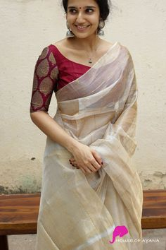 Kerala Saree Blouse Designs, Cotton Saree Blouse Designs, Bridal Blouse Designs, Brocade Blouse Designs, Half Saree Designs, Dress Designs, Sleeve Designs, Blouse Designs High Neck, Simple Blouse Designs