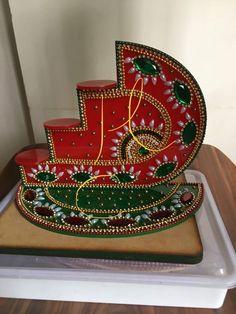 Arti Thali Decoration, Thali Decoration Ideas, Diwali Decorations, Wedding Decorations, Diwali Diy, Diwali Craft, Festive Crafts, Diy And Crafts, Wedding Gift Wrapping