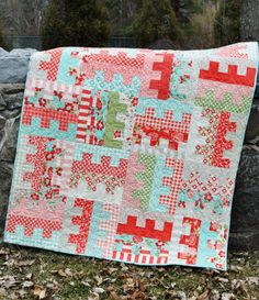 QUILT PATTERN pdf....One Jelly Roll or Fat Quarters, easy and quick, Key to my Heart