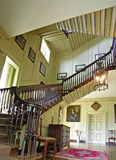Flying staircase.....Shirley Plantation - Charles City, Virginia
