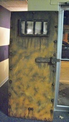 another great faux steel door Halloween