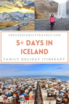 Spending 5+ days in Iceland on a family holiday is an amazing adventure. This self-guided Iceland itinerary for families with kids takes in the highlights! #Iceland #FamilyTravel #IcelandItinerary Norway Travel, Sweden Travel, Spain Travel, Best Family Vacation Spots, Family Travel, Azerbaijan Travel, Europe Travel Tips, European Travel