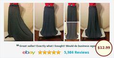 BUY IT NOW! Stretch Knit Full Skirt Crew KnitWear Pinstripe Size M Black & White | eBay #fullskirt #crewknitwear