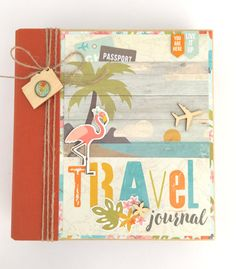 Travel Scrapbook Album Kit or Premade Mini by ArtsyAlbums on Etsy