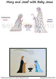 Free Iris Paper Folding Patterns | Nativity- Iris Folding Pattern