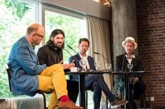 Thomas Böhm, Ricardo Domeneck, Peer Trickle und Kenneth Goldsmith (c) Mike Schmidt