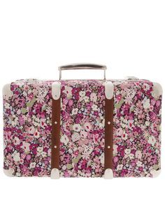 Purple Thorpe Print Miniature Suitcase, Liberty Print Suitcase