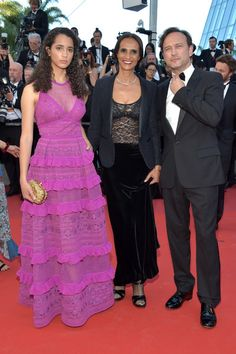 """Iman Perez, Karine Silla and Vincent Perez attend the """"Ismael's Ghosts (Les Fantomes d'Ismael)"""" screening and Opening Gala during the 70th annual Cannes Film Festival at Palais des Festivals on May 17, 2017 in Cannes, France."""
