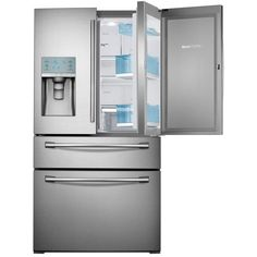 Samsung 29.5 cu. ft. Food Showcase 4-Door French Door Refrigerator in Stainless Steel-RF30HBEDBSR - The Home Depot