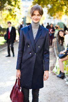 Great coat, great haircut.