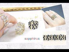 YouTube Wire Jewelry, Beaded Jewelry, Jewelry Rings, Handmade Jewelry, Wire Earrings, Wire Wrapped Rings, Wire Wrapped Pendant, Ring Tutorial, Bugle Beads