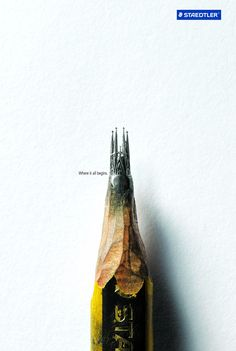 Sagrada Familia - pencil tip carving