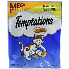 Whiskas Temptations Hairball Control Chicken Flavor Cat Treats 4.9 oz by Mars (3-Pack Bundle) >>> You can get additional details at the image link. (This is an affiliate link) #Cats