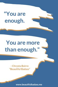 "Your value doesn't lie in your productivity - you are enough, no matter what you get done (or don't get done). Show yourself some extra compassion today - and if you like this message, click through to check out my book, ""Beautiful Badass: How to Believe In Yourself Against the Odds!"" Find Quotes, Confidence Boost, You Are Enough, Work Life Balance, You're Awesome, Believe In You, Compassion, Business Tips, Productivity"