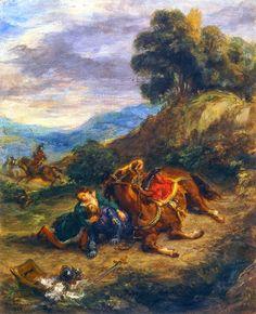 Le Prince Lointain: Eugène Delacroix (1798–1863), La Mort de Lara - 18...