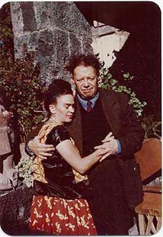 1948 - Frida Kahlo and Diego Rivera, Coyoacán, Mexico