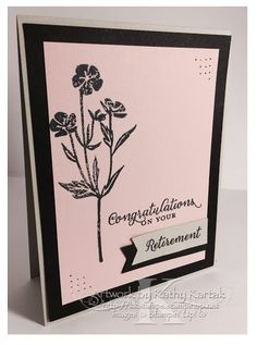"Retirement in Pink is made with Stampin' Up's ""Wild About Flowers"" stamp set."