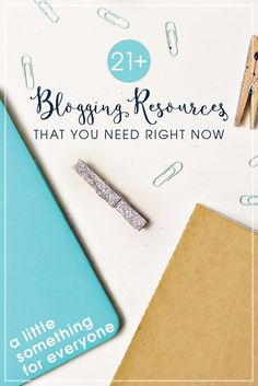 21+ Blogging Resources that You Need Right Now - Everything from photography classes, email lists you should be on, and some killer blogging courses. This covers all my best tips for beginner to advanced bloggers. What would you add to this list?