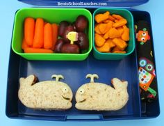 Whale themed bento lunch