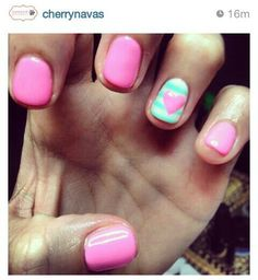 cherry canvas cute nails
