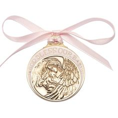 Angel Crib Medal for a Catholic Baby.