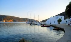 ☼ Grecia Greece ☼ Cyclades Island Sifnos Vathy_harbour_Greek_island_of_Sifnos Greek Sea, Greece Holiday, Paradise On Earth, Greece Islands, Beautiful Places In The World, Travel And Leisure, Greece Travel, Places To See, Around The Worlds