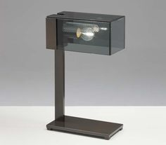 Chi-Yun table lamp burnished - smoky glass