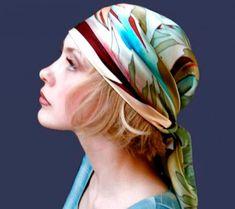 платки на голову 2016, как завязать видео фото