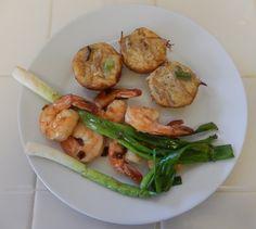 Eggface Dinner Recipes: Teriyaki Shrimp & Green Onions