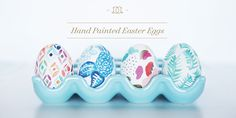 Inspiration for your Easter holidays: how to create hand painted Easter eggs inspired by recent Day Designer cover designs!