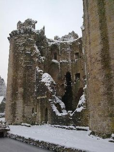 The ruins of Nunney Castle.
