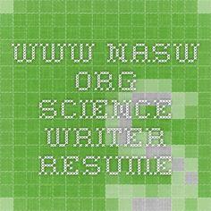 www.nasw.org - science writer resume