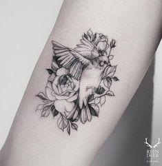 """Képtalálat a következőre: """"bird with flowers tattoo"""""""