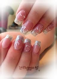 gel nail designs with bling - Google Search