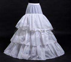 White tail wedding petticoat