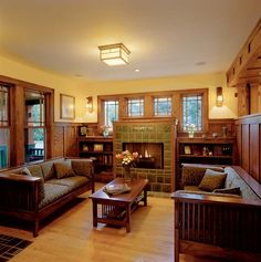 Interiors of Praire Style Homes | Prairie Style House Interior Craftsman style interior