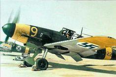 Finnish Messerschmitt Bf 109 G-2 at Helsinki Malmi airport, June 1943.