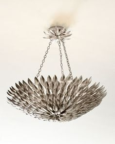 H7EDA Broche Layered Leaves Six-Light Convertible Chandelier