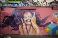 Female street artists set Guinness World Record for largest mural painted by a team - News - Art - The Independent