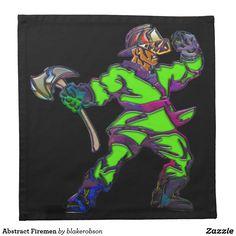 Abstract Firemen Cloth Napkin