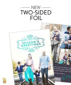 Sneak Peek at Pear Tree's new Christmas Card Ideas for 2015. Surprise friends with exclusive 2-sided foil cards.