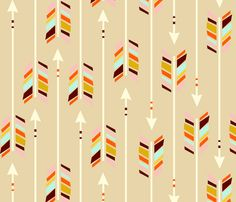 Large Arrows: sand fabric by nadiahassan on Spoonflower - custom fabric