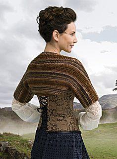 Outlander the Series: Claire's Captivating Castle Leoch Shrug (Knit) - Lion Brand Yarn Outlander Knitting Patterns, Knitting Kits, Knitting Yarn, Free Knitting, Knitting Ideas, Shrug Pattern, Corset, Knit Shrug, Yarns