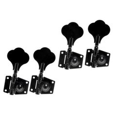 1set of 4R in Line Black Machine Heads Nickel Tuning Pegs for Jazz P Bass Guitar Replacement by Guitar bass tuning pegs. $22.00. 100% new  high quality and testing is fine  Item 100% like the picture shown  Heavy duty internal gear  Color: Black  Gear Ratio: 1 to 24  Package Content: 4 x Bass Tuning Pegs   4 x bushings  16 x screws  We manufacture all kinds of instrument parts and product The direct model so that our price is very low with high quality.