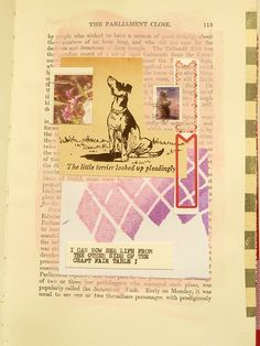 Using figures to create a narrative in your collage. Part 5 of an altered book + collage adventure by Julie Kirk