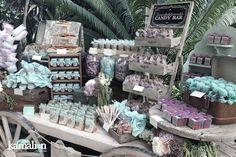 www.kamalion.com.mx - Mesa de Dulces / Candy Bar / Postres / Wedding / Boda / Menta & Lavanda / Lavander & Mint / Vintage / Rustic Decor.