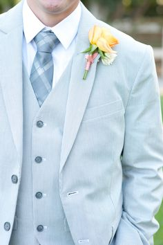 Summer Blue Suit for the Groom and Groomsmen